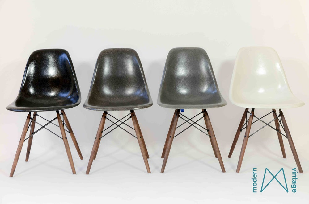 Image of Eames Multicolor set Herman Miller Vitra Elephant Charcoal Black Off White