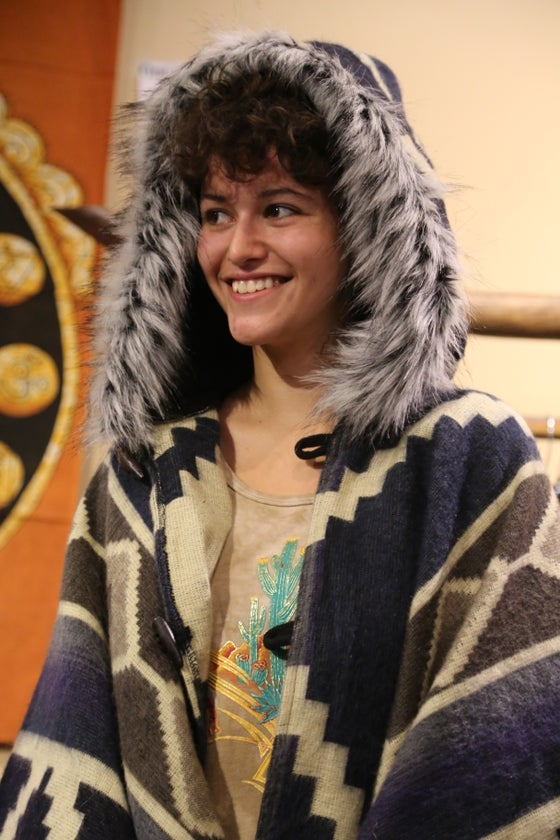 Image of Aztek Ecuador Cape with Fur Fringe