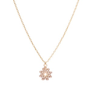Image of Bronze pearl daisy pendant