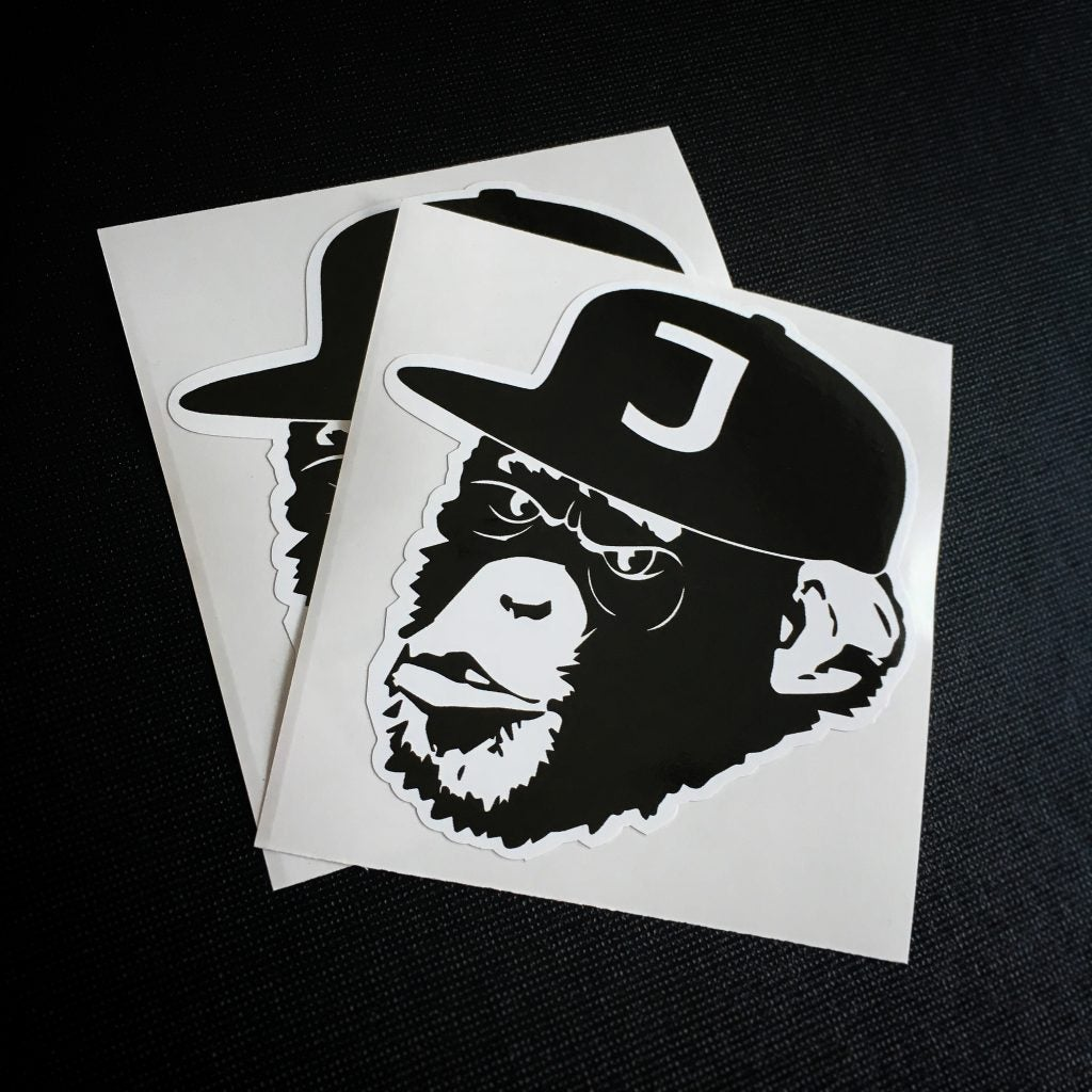 Image of APES BLACK STICKERS