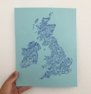 Image of UK and Ireland Print