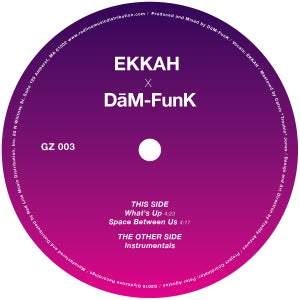 "Image of Ekkah x Dam-Funk ""What's Up"" + ""Space Between Us"" Special Limited Edition 12"""