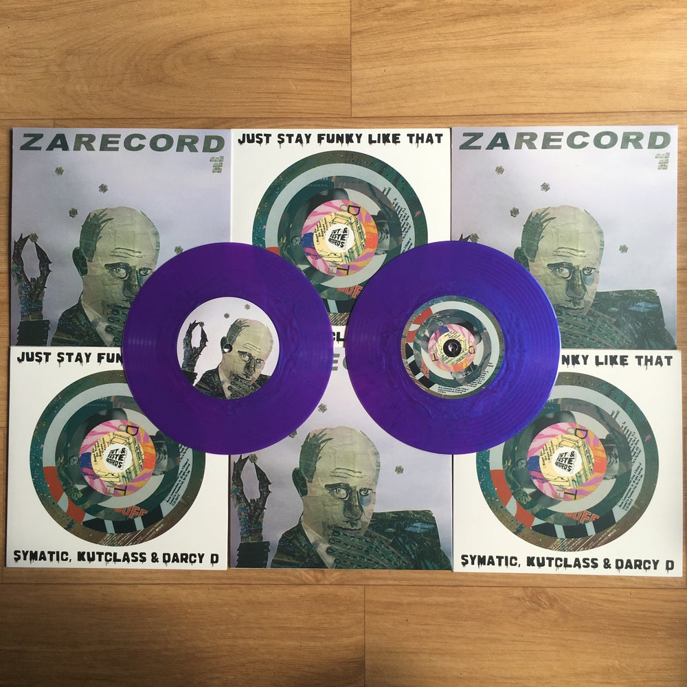"Image of CUT & PASTE - JUST STAY FUNKY LIKE THAT (Purple Silk 7"" Scratch Record)"