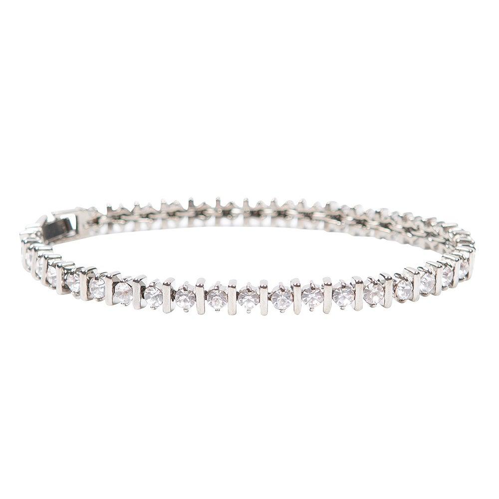 Image of Palladium Bar Tennis Bracelet