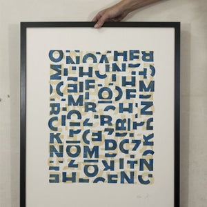 Image of Crashed Letters Blue (new)