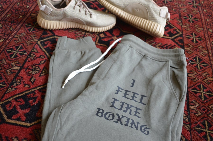 Image of men's i feel like boxing sweatpants