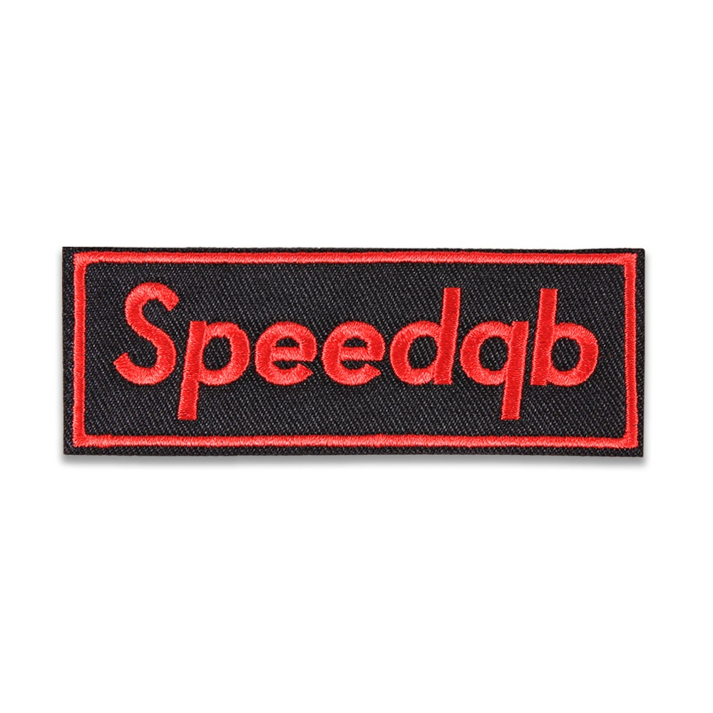 Image of SpeedQB Box Logo Patch - Bred