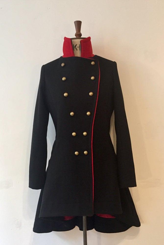 Image of Colour block commander coat
