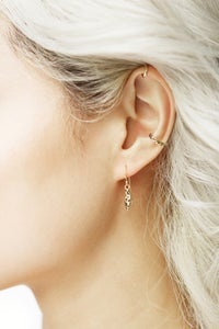 Image of LEOPARD NAVETTE EARRINGS