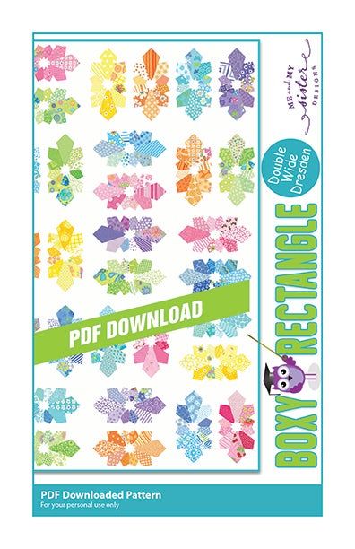 Image of Boxy Rectangle - Double Wide Dresden PDF pattern