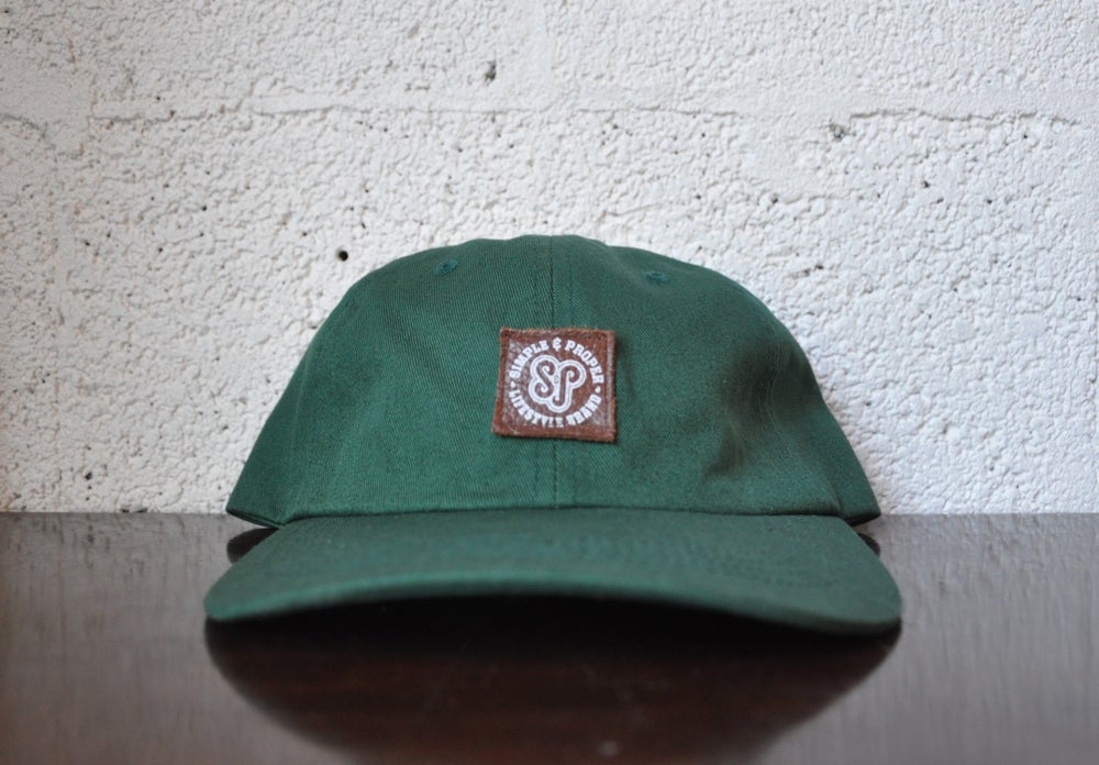 "Image of S&P-""DIY Patch Logo"" StrapBack Cap (Brn./D.Grn)"