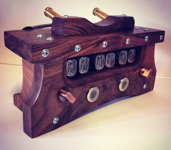 Image of Nixie Clock MKII - Black Walnut & Mixed Hardware