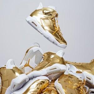 Image of Nike Jordan 6 Pinnacle Gold / White