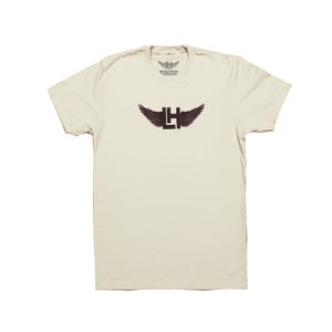 Image of Embroidered Classic Wings Tee (Cream/Brown)