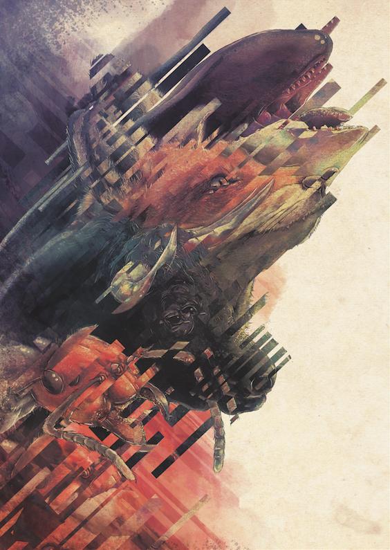 Image of Beast Wagon Tails Print
