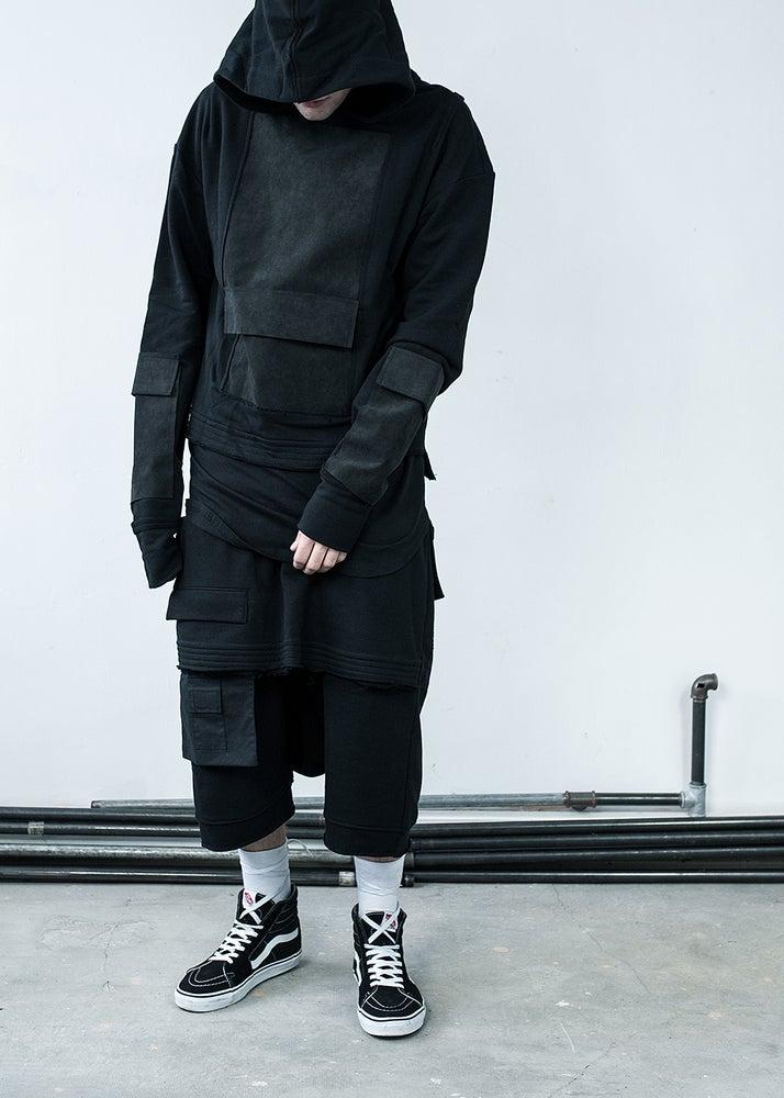 Image of Urban Flavours Mental Pocket Hoodie Black