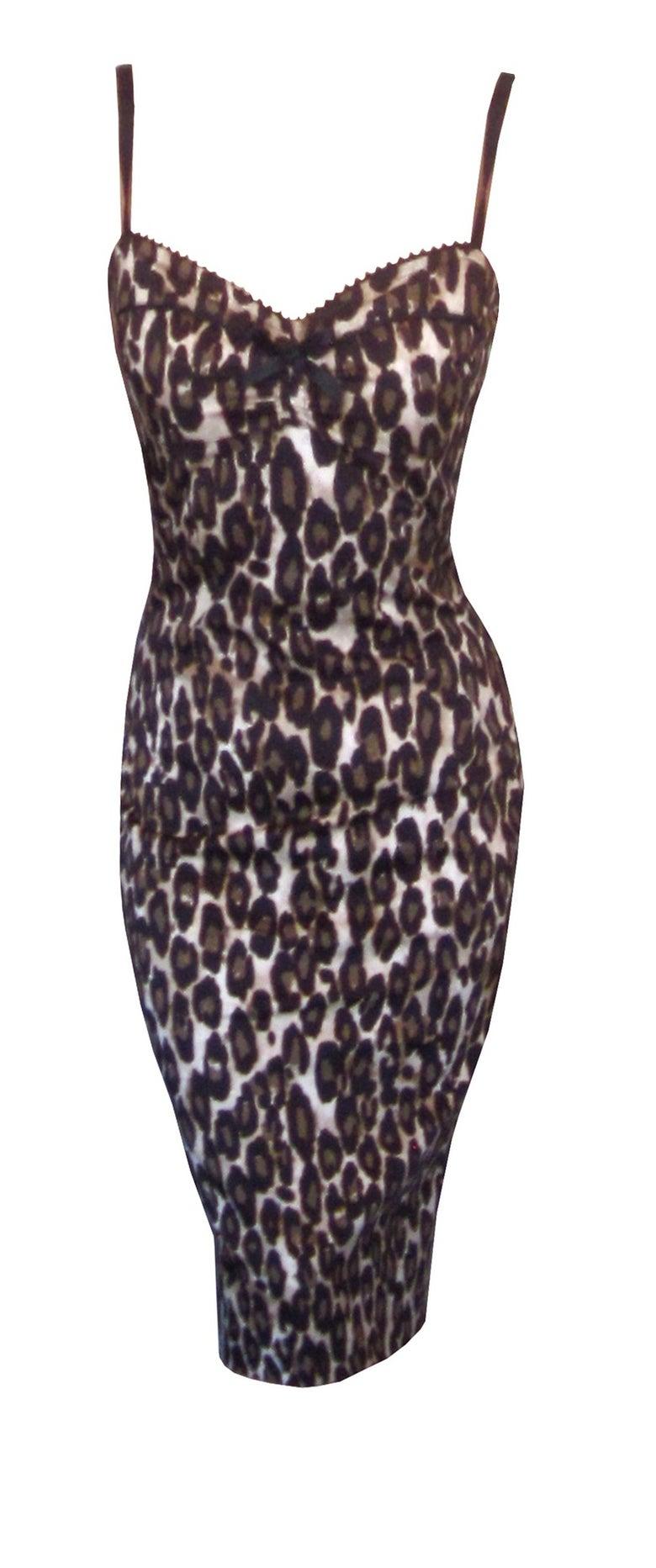 "Image of ""Miss Kitty"" leopard wiggle dress"