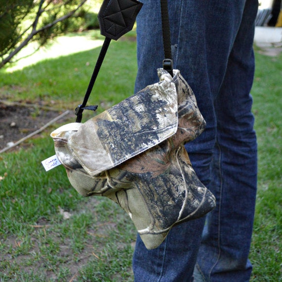 Image of Camo Camera Bag Padded Fitted For Men | Great for Canon Nikon Sony Pentax Cameras