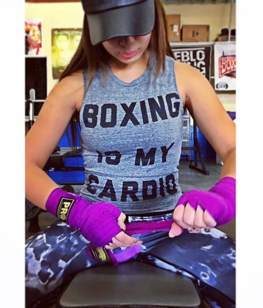 Image of Womens Boxing is My Cardio tshirts (2 colors)