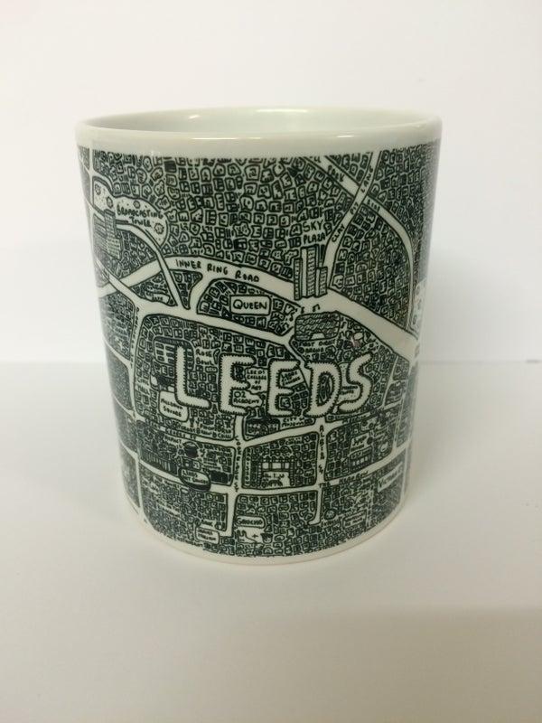 Image of Leeds Doodle Map Mug