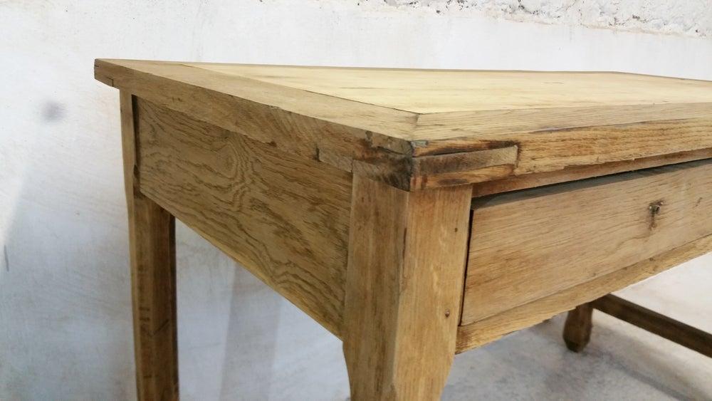 Image of Bureau ancien en chêne ou table de cuisine