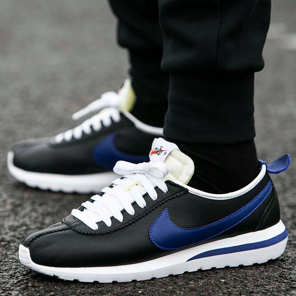 ... hot image of nike roshe cortez nm leather qs black deep royal 5f063  886dd ... f9e581da8