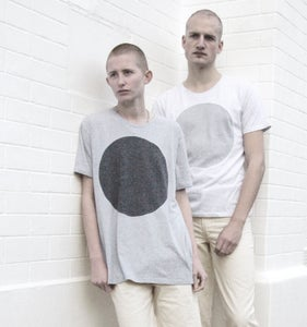 Image of NEW COLLECTION: GREY LABEL LUNAR T-SHIRT IN MORNING SKY WHITE FLECK OR OVERCAST BLUE/GREY FLECK