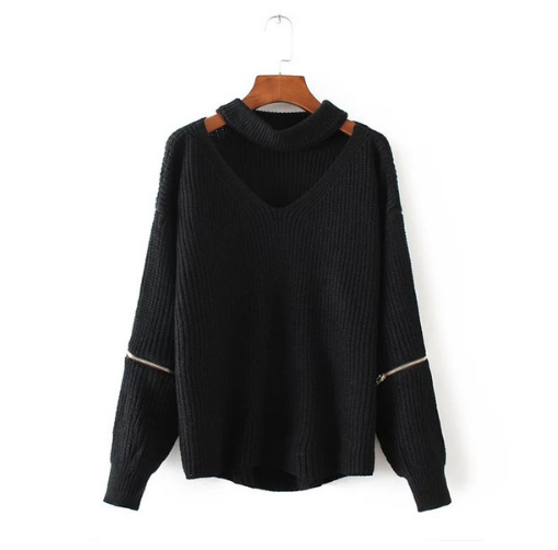 Image of Autumn and winter new sexy V-neck sweater