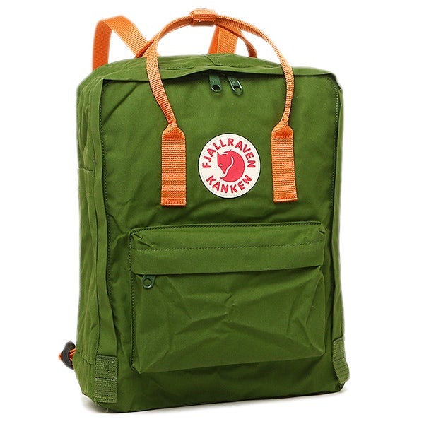 Image of Fjallraven Kanken - Leaf Green / Burnt Orange