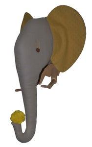 Image of Trophée éléphant oreilles jaunes