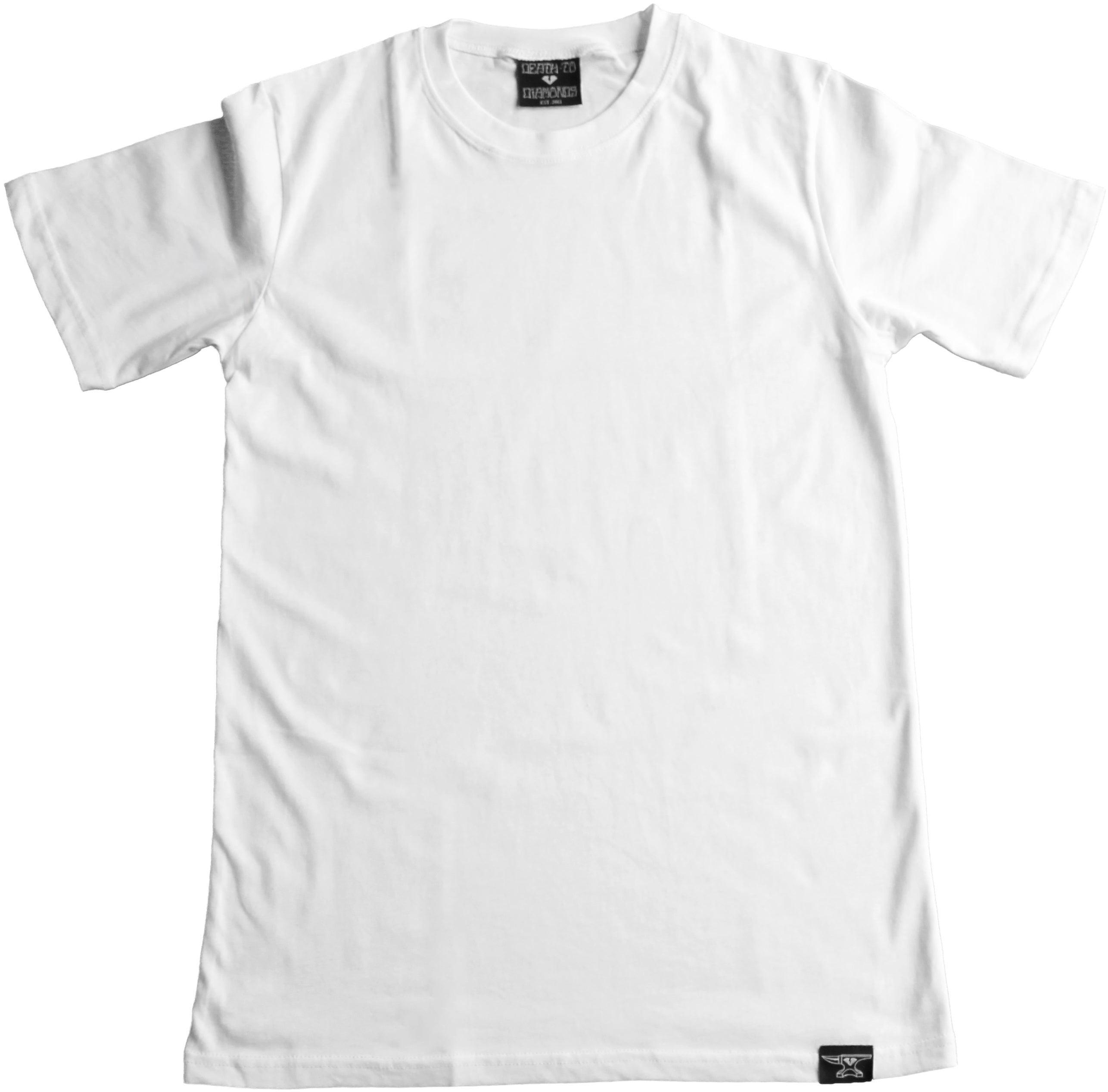 Death to Diamonds — Custom Blank White T-Shirt