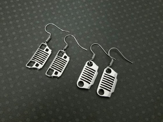 Image of Jeep Grill Earrings