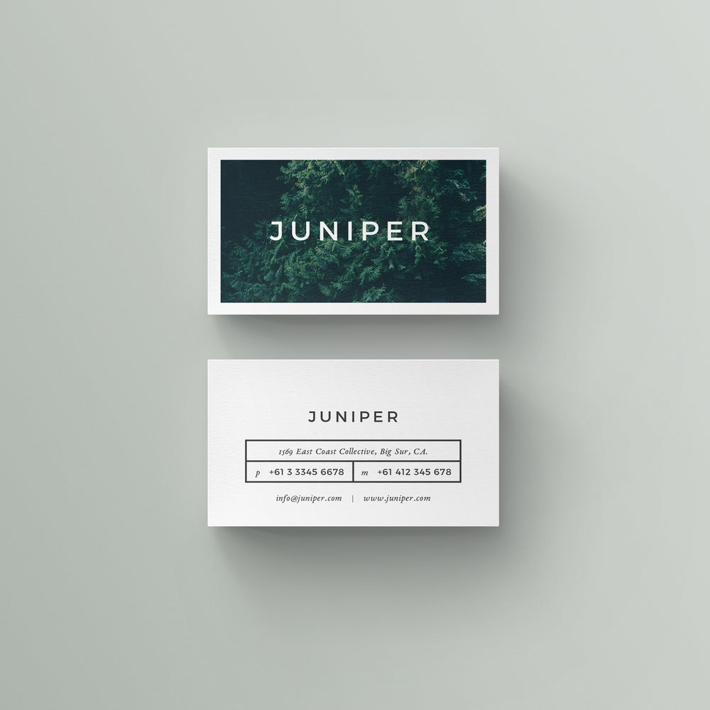 Image of J U N I P E R Business Card