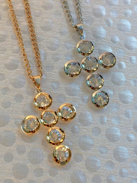 Image of Jeweled Cross Necklace