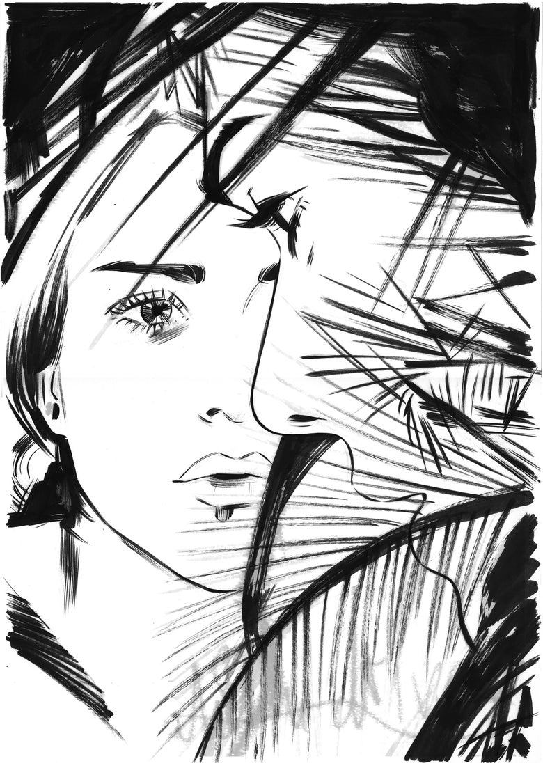 Image of MULHOLLAND DRIVE MONDO PRELIM ORIGINAL ART
