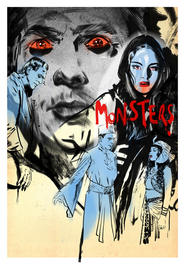 Image of UNIVERSAL MONSTERS SCREENING LTD ED PRINT