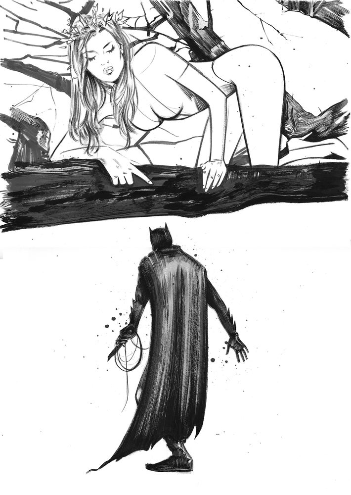 Image of ALL STAR BATMAN #7 COVER - ORIGINAL