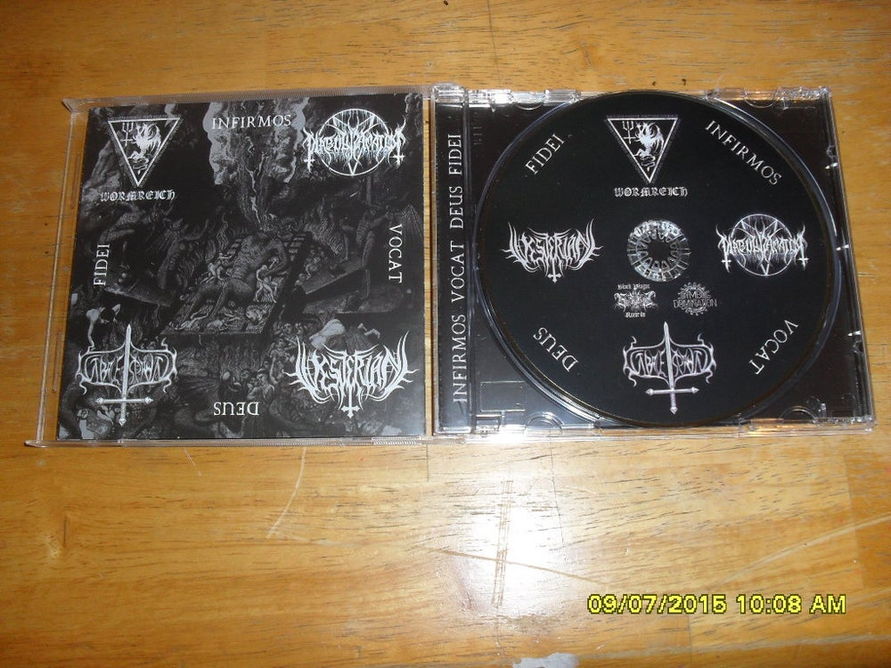 Image of Vesterian Infirmos Vocat Deus Fidei split CD