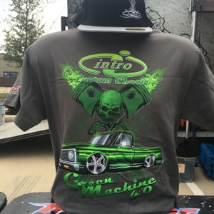 Image of Green Machine Gray T-Shirt