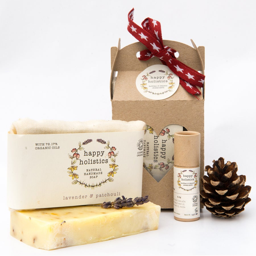 Image of Organic Soil Association Soap and Lip Balm Gift Set