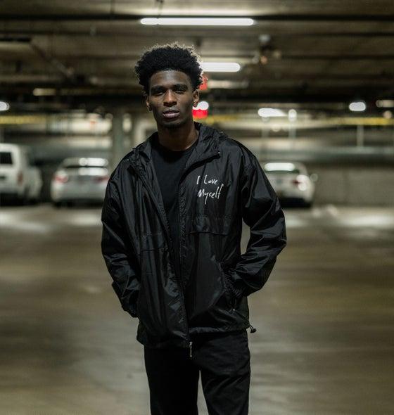 Image of Black I Love Myself Windbreaker