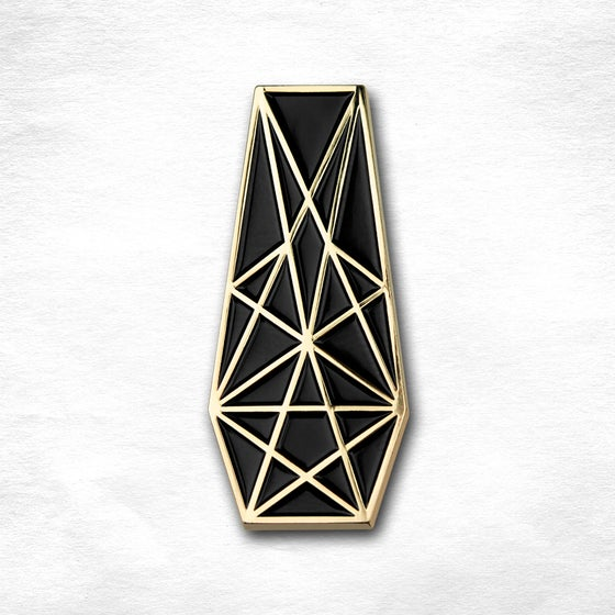 Image of Pentacle Coffin Pin - GOLD