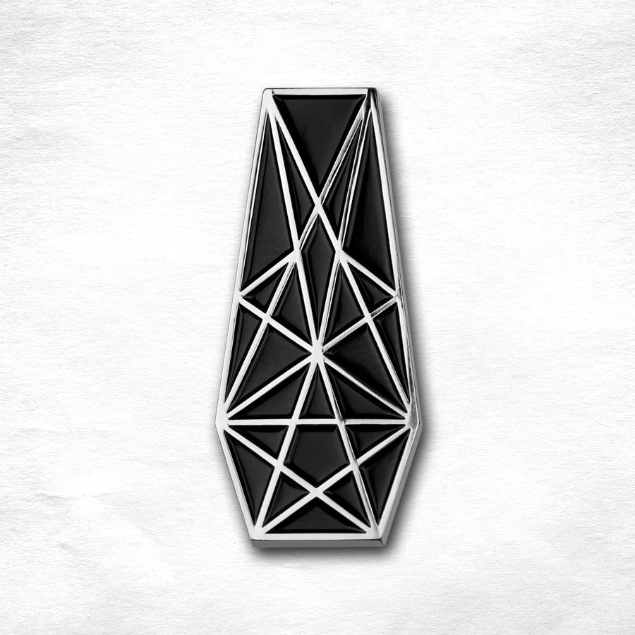 Image of Pentacle Coffin Pin - SILVER