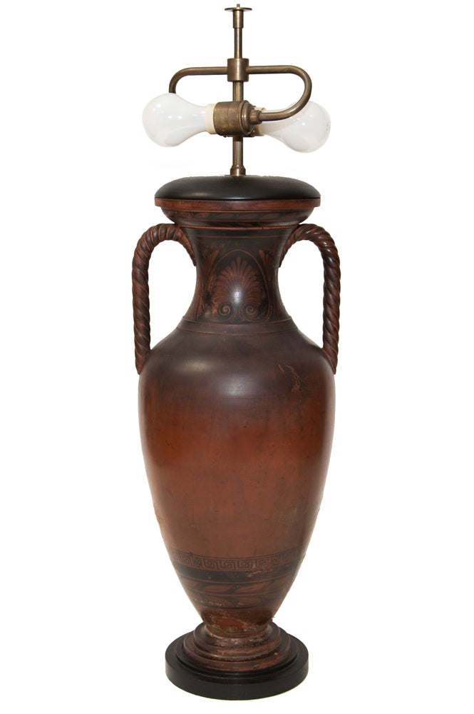 Image of Wood Urn lamp