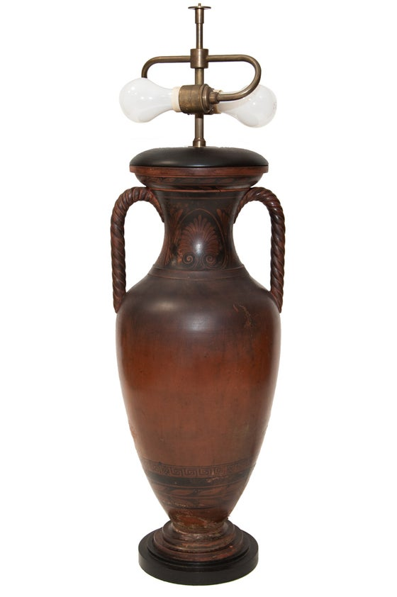 Image of Wood Urn lamp