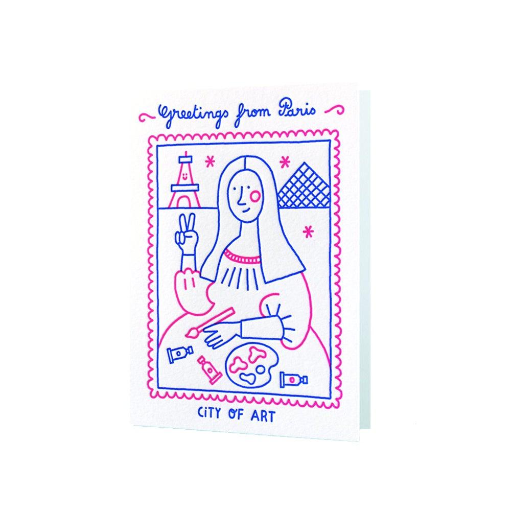 Carte Paris - Letterpress de Paris