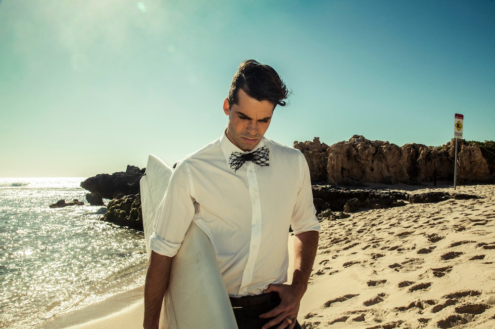 Image of Men's Upcycled Fishnet Bow Tie