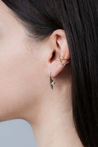 Image of ORACLE PEARL STUDS- SILVER