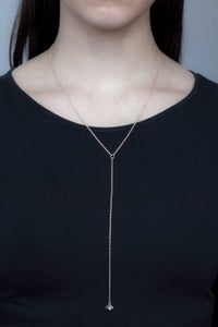 Image of MOONRISE PEARL LARIAT- SILVER