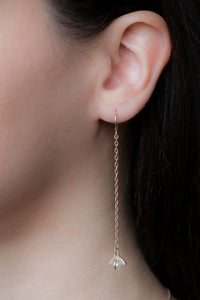Image of MOONRISE CHAIN EARRINGS- SILVER